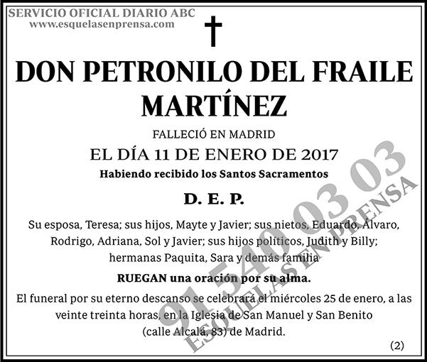 Petronilo del Fraile Martínez